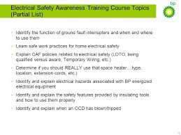 chicago area facilities caf electrical safety program ppt