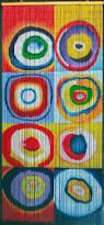 Amazon Beaded Curtains Amazon Com Squares U0026 Rings Kandinsky Beaded Curtain 125 Strands