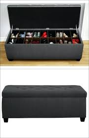 shoe storage ottoman bench shoe storage ottoman bench brilliant for the with regard to diy cvid