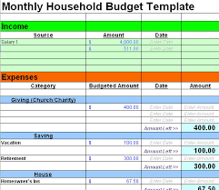Home Budget Excel Template Excel Budget Template Organization Excel Budget