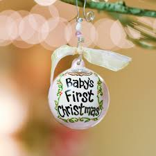 christmas ornaments baby haus inc 2050102 pink baby s christmas birds in nest
