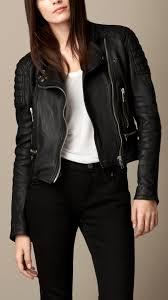 leather biker jackets for sale burberry leather biker jacket in black lyst