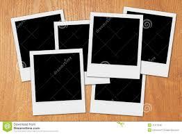Desk Picture Frame Blank Polaroid Photo Frames On The Desk Stock Photo Image 41413248