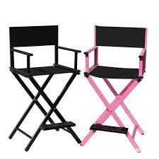 makeup stool for makeup artists aluminum frame makeup artist chair black pink color outdoor