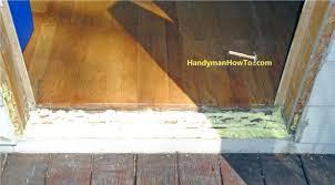 Replacing An Exterior Door Threshold Front Doors Stupendous Front Door Threshold Great Inspirations