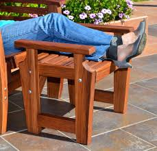 Cushions For Reclining Garden Chairs Reclining Redwood Easy Chair Outdoor Wood Recliners