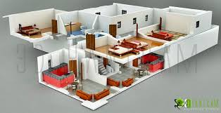 3d hotel section view floor plan design mumbai india 3d floor
