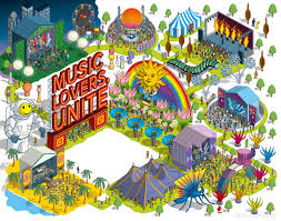 Austin City Limits Map by Rod Hunt Illustration Studio Illustration And Maps Portfolios