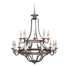 Jeremiah Lighting Chandeliers Jeremiah Ashwood 15 Light Chandelier In Textured Black Whiskey