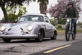 porsche 356 outlaw vintage porsche meet electric bicycle the outlaw tracker gear