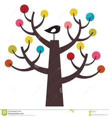 vector bird and tree stock vector image of decoration 9269814