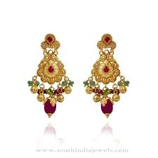 gold earrings for gold earrings for women in india luxury green gold earrings for