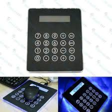 calculator hub slim usb hub 4 ports mouse pad blue led light calculator for