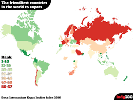 Countries Map The Friendliest Countries To Expats Map X Post R Europe Article