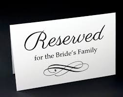 reserved signs for wedding tables reserved signs for wedding reserved table sign wedding reception
