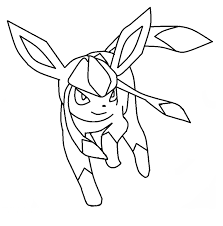 pokemon eevee evolutions glaceon coloring pages cartoon