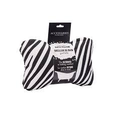 danielle bath accessories inflatable bath pillow zebra