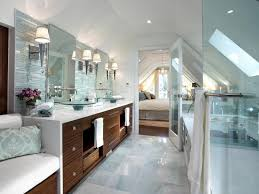 pretty bathroom ideas awesome with chic downlight inside big mirror and modern wastafel