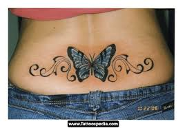 Flower Butterfly Tattoos 01 Cherries Design With