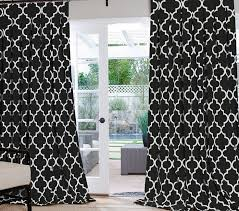 Pattern Drapes Curtains Curtains Black And White Pattern Gopelling Net