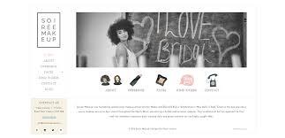 Makeup Artists Websites 12 Examples Of Divi U0027s Vertical Navigation Elegant Themes Blog