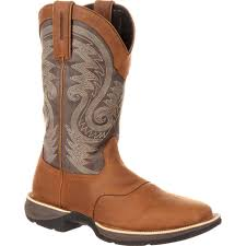 womens cowboy boots uk ddb0104 rebel by durango waterproof saddle boot