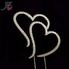 heart cake topper new style completely covered monogram wedding heart shape