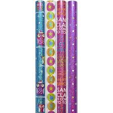 owl christmas wrapping paper time 30 wide 4 rolls owl foil gift wrapping paper
