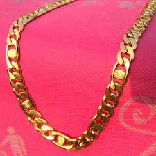 solid yellow gold necklace images Men 39 s chain necklace 600mm italy new handsome 14k solid yellow jpg