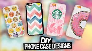 Cute Ways To Decorate Your Phone Case Diy Phone Case Designs Starbucks Emoji U0026 More Youtube