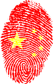 Image Chinese Flag Chinese Flag Fingerprint