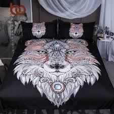 tattoo bedding queen beddingoutlet tattoo head wolf bedding set wild beast boys duvet