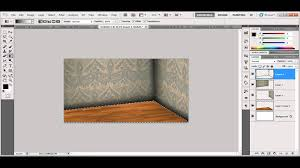 how to consruct and draw a room in photoshop tutorial arabic