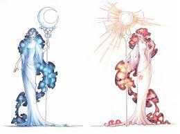 moon and sun by drachenmagier on deviantart