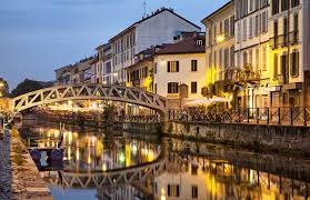 Italy Houses by Photos Italy Milan Bridges Night Rivers Cities Houses