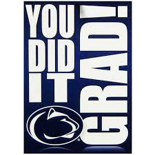 graduation cards student book store penn state graduation card you did it