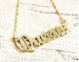 Gold Plated Necklace With Name Best Name Necklace Monogram Necklaces Bar By Bestnamenecklace