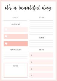 daily planner pdf free free printable daily planner blessed mess life