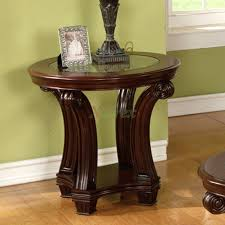 coffee table dark wood round coffee and end table sets small