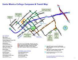 Expo Line Santa Monica Map Smc Intercampus Shuttles