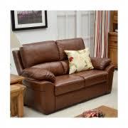 Saddle Brown Leather Sofa Ancona Brown Leather Reclining 3 Seater Sofa