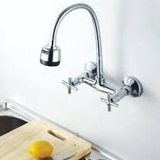 wall mounted kitchen faucet wall mount kitchen faucet standard chrome heritage wall mounted