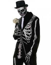 bone daddy day of the dead skeleton mens halloween costume
