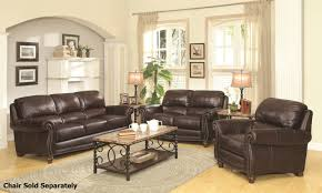Leather Livingroom Sets Lockhart Brown Leather Sofa And Loveseat Set Steal A Sofa