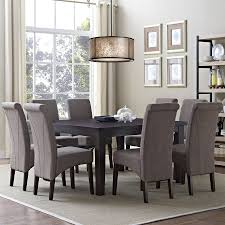9 pieces dining room sets shop simpli home avalon java brown 9 piece dining set with dining