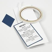 Blue Table Menu Happy Moments Blue Table Decorations And Menu Card Diy Guide