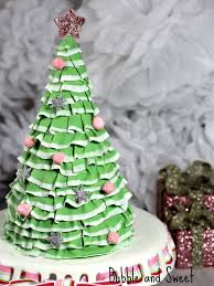 Fruit Decoration For Christmas Cake by Bubble And Sweet Pretty Layered Ruffle Christmas Tree Cake The
