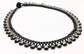 black beaded collar necklace images Egyptian collar beadwork necklace kit with kheops par puca and png
