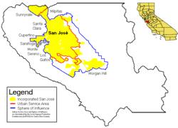san jose unified map san jose california