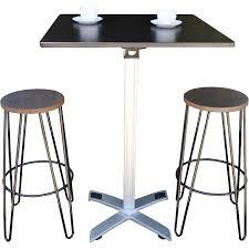 Folding Bar Table Outdoor Folding Bar Table 80x80 Black Square Hairpin Stools Jpg